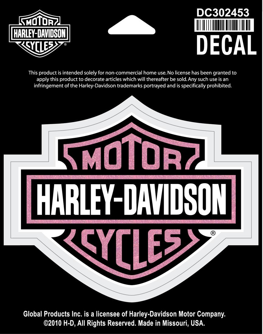 harley davidson aufkleber bar shield glitter im. Black Bedroom Furniture Sets. Home Design Ideas