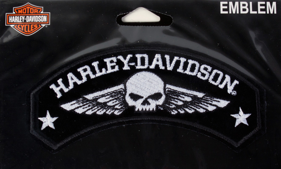 harley davidson aufn her military wings im thunderbike shop. Black Bedroom Furniture Sets. Home Design Ideas