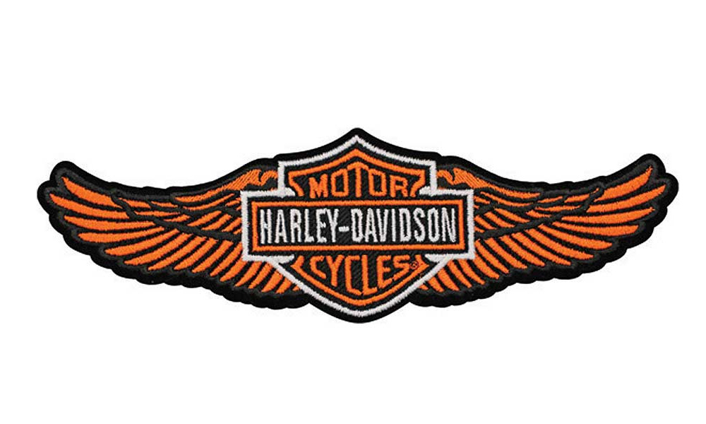 harley davidson aufn her straight wing orange im. Black Bedroom Furniture Sets. Home Design Ideas