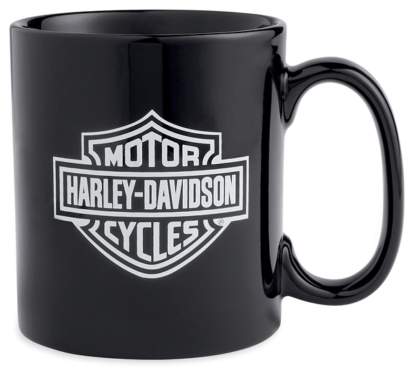 99205 13v harley davidson tasse bar shield schwarz weiss. Black Bedroom Furniture Sets. Home Design Ideas