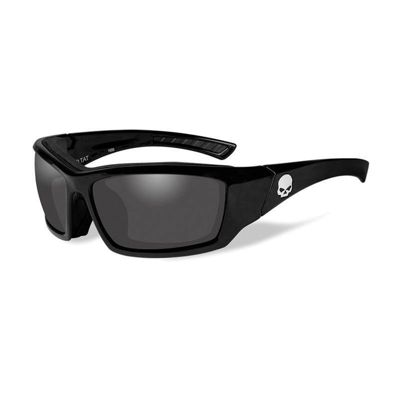 Harley-Davidson Wiley X Skull Sonnenbrille, grau getönt / schwarz ...