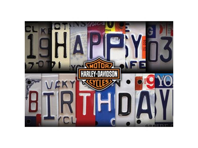 Harley Davidson Birthday Card License Plate At Thunderbike Shop