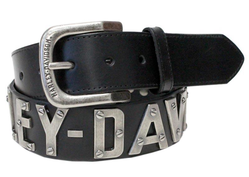 4badcd9cca ... H-D Motorclothes Harley-Davidson Belt Men Metal Front - HDMBT10636 ...