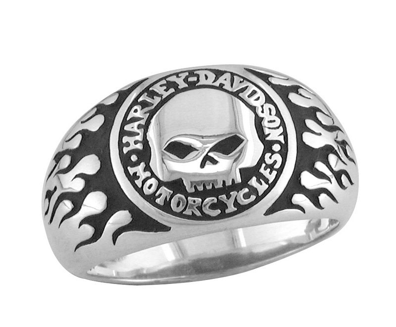 Harley Davidson Rings on Harley Davidson Ring Skull