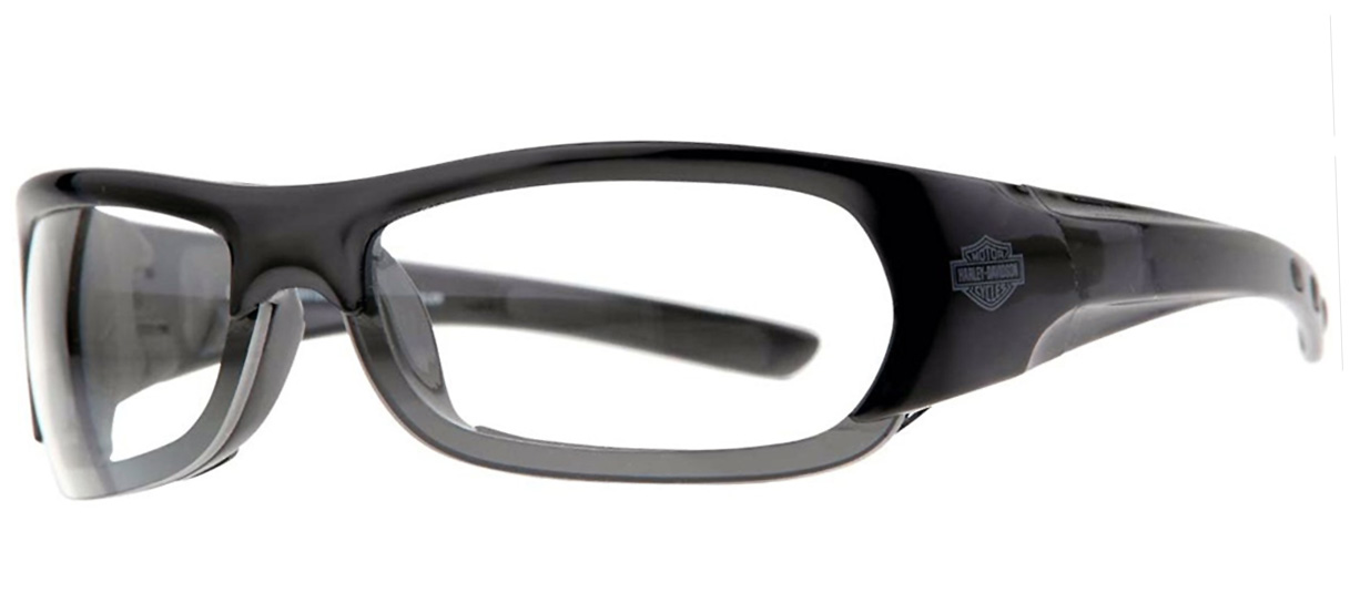 harley davidson brille bar schield schwarz klar im. Black Bedroom Furniture Sets. Home Design Ideas