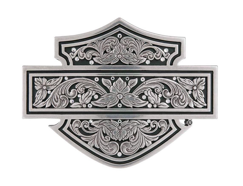 harley davidson g rtelschnalle damen filigree bar shield. Black Bedroom Furniture Sets. Home Design Ideas