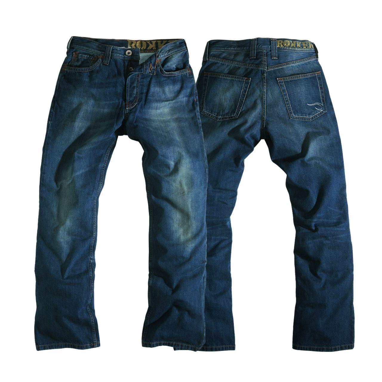 rokker original herren jeans mit kevlar im thunderbike shop. Black Bedroom Furniture Sets. Home Design Ideas
