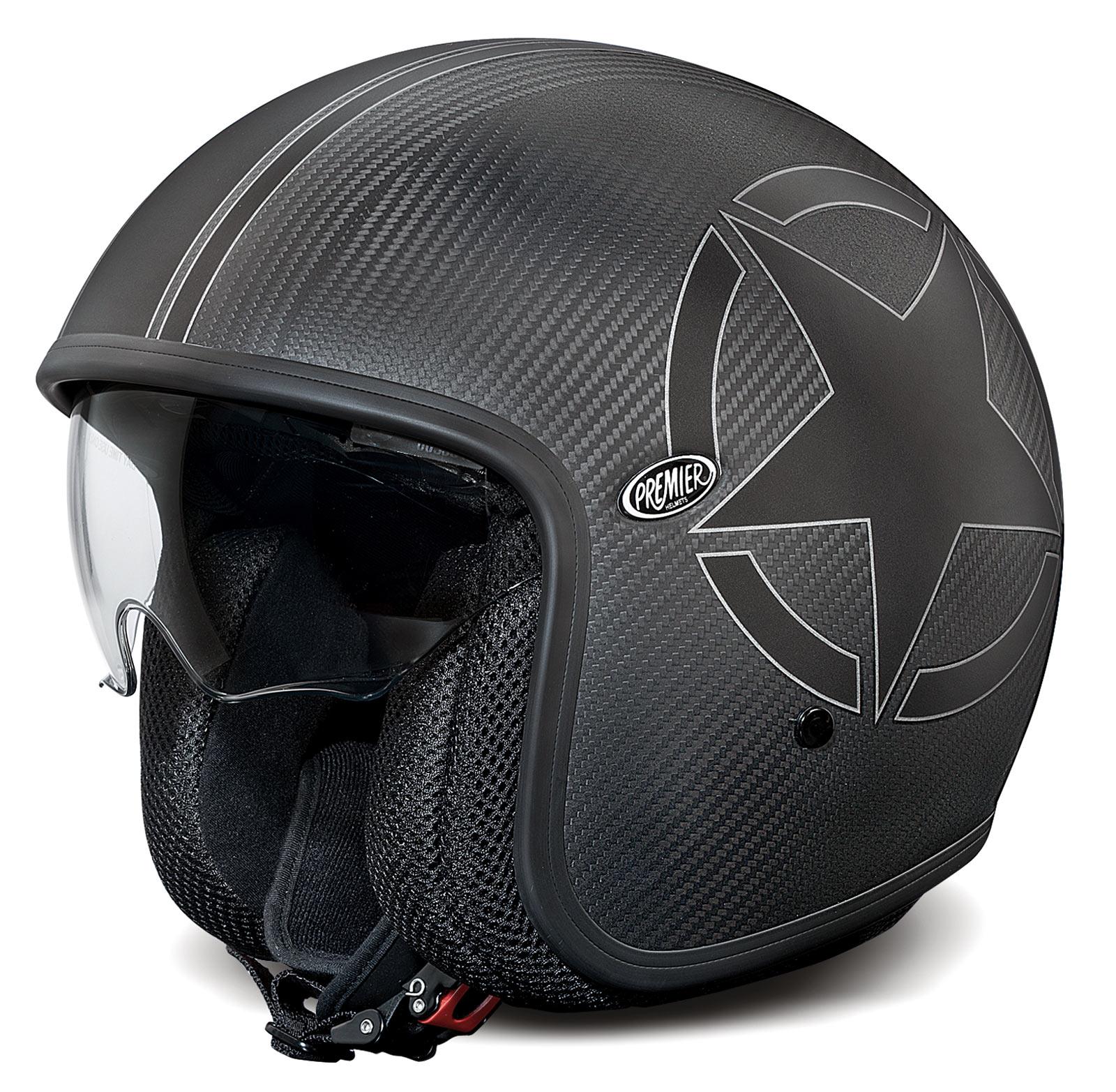premier jet helm vintage carbon star im thunderbike shop. Black Bedroom Furniture Sets. Home Design Ideas