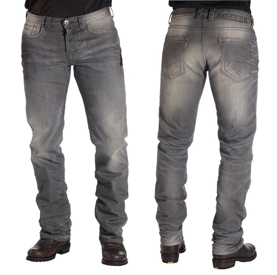 rokker the rebel herren biker jeans grau im comfort fit. Black Bedroom Furniture Sets. Home Design Ideas