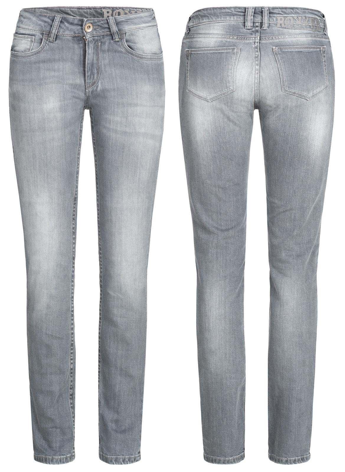 rokker the donna grau damen biker jeans comfort fit bei. Black Bedroom Furniture Sets. Home Design Ideas