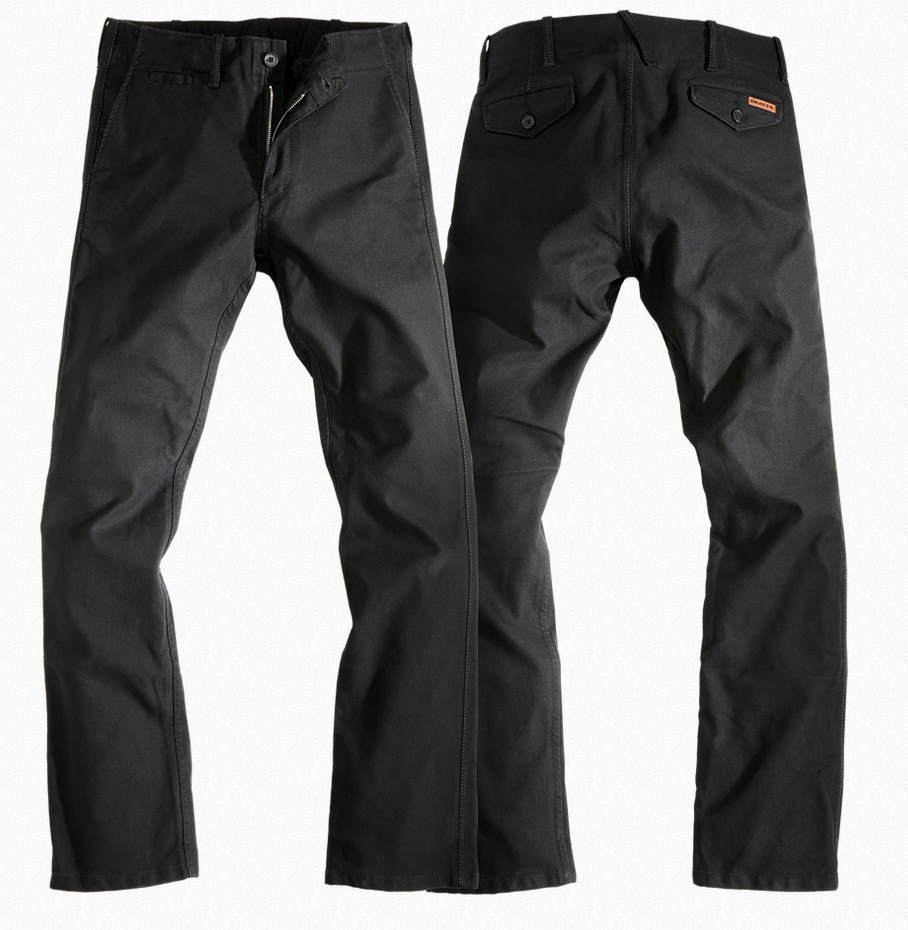 rokker chino biker jeans schwarz im coolen slim fit bei. Black Bedroom Furniture Sets. Home Design Ideas