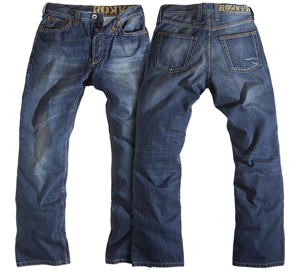 rokker original jeans with kevlar at thunderbike shop. Black Bedroom Furniture Sets. Home Design Ideas