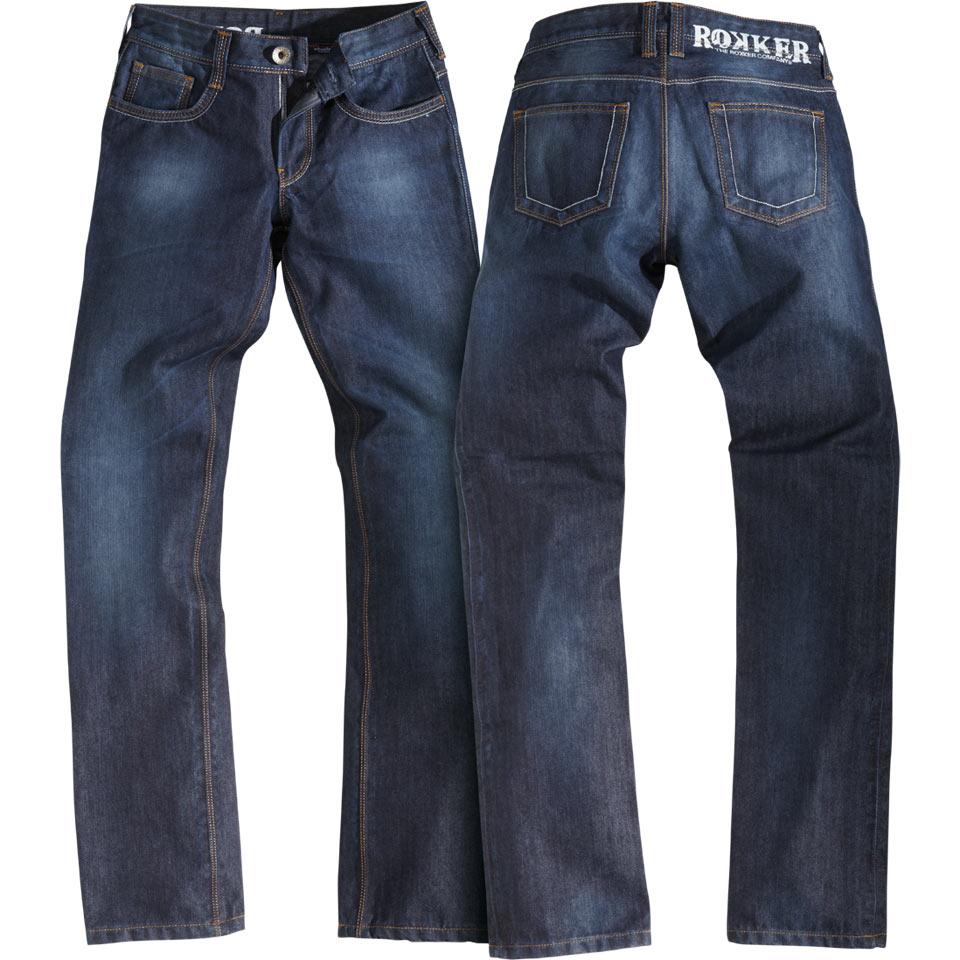 rokker revolution lady biker jeans f r damen bei thunderbike. Black Bedroom Furniture Sets. Home Design Ideas