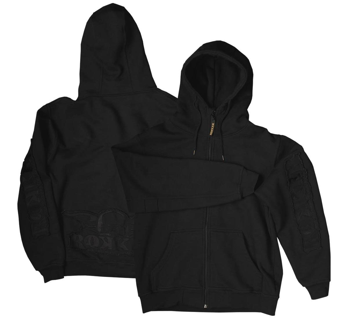3d4529c07d4b55 Rokker Zip Hoodie, black for men & women at Thunderbike Shop