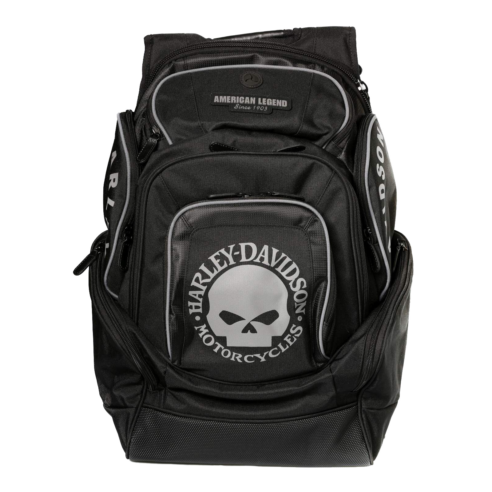 harley davidson skull delux back pack at thunderbike shop. Black Bedroom Furniture Sets. Home Design Ideas