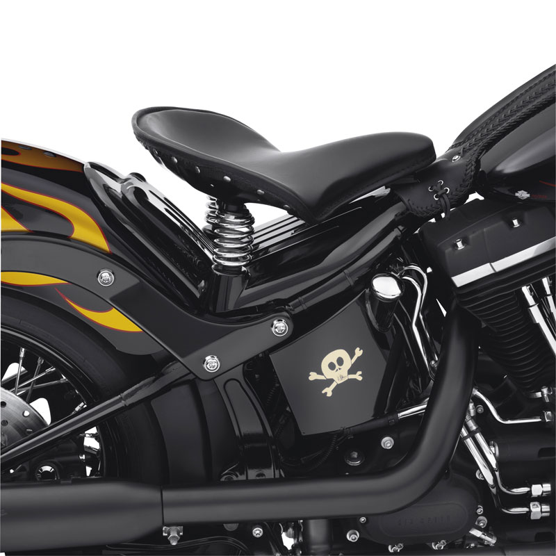 54370-10DH Gloss Black Frame Cover for Softail Solo Spring Saddle at ...