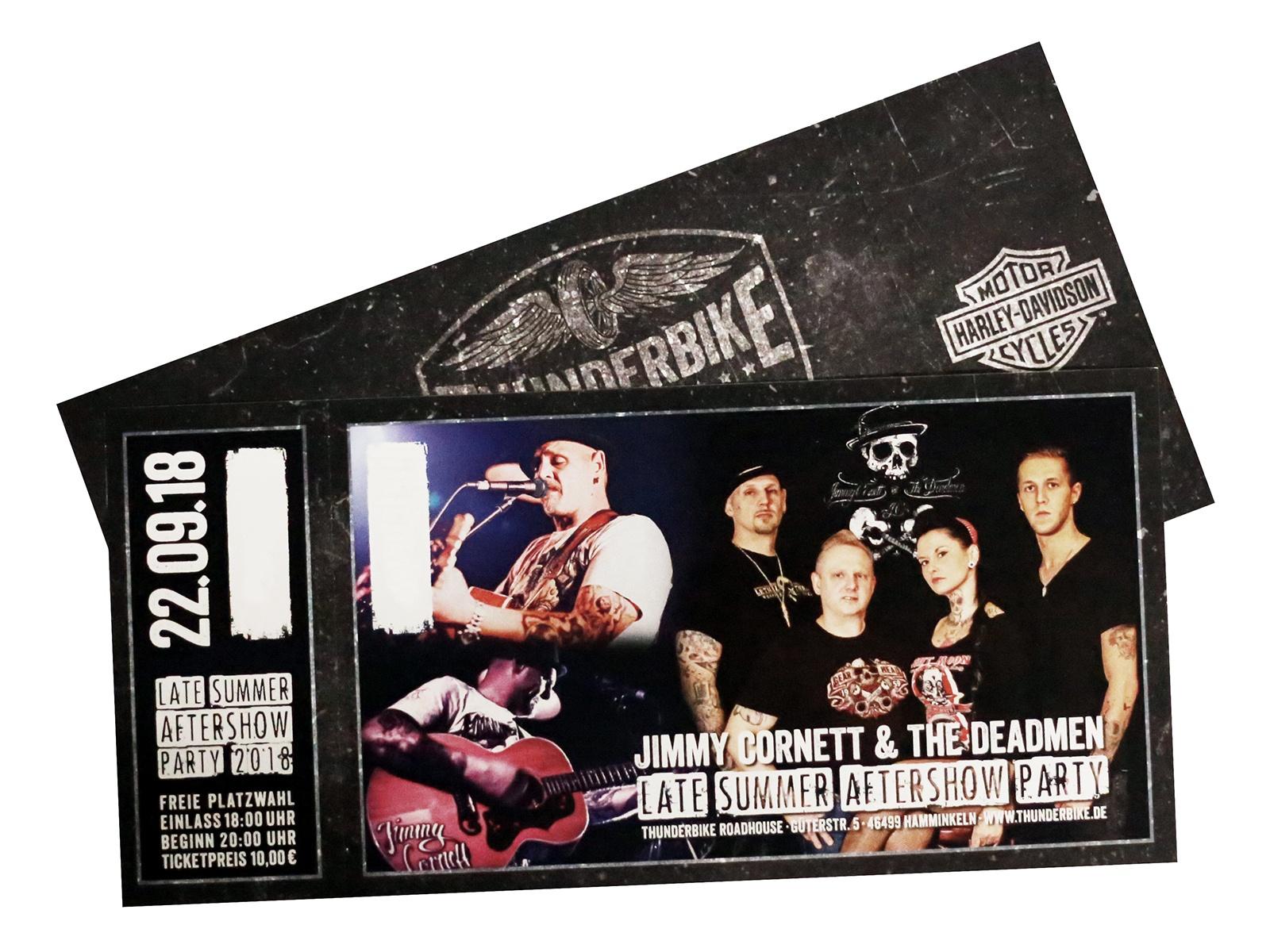 Konzertkarte Late Summer 22.09.18 mit Jimmy Cornett