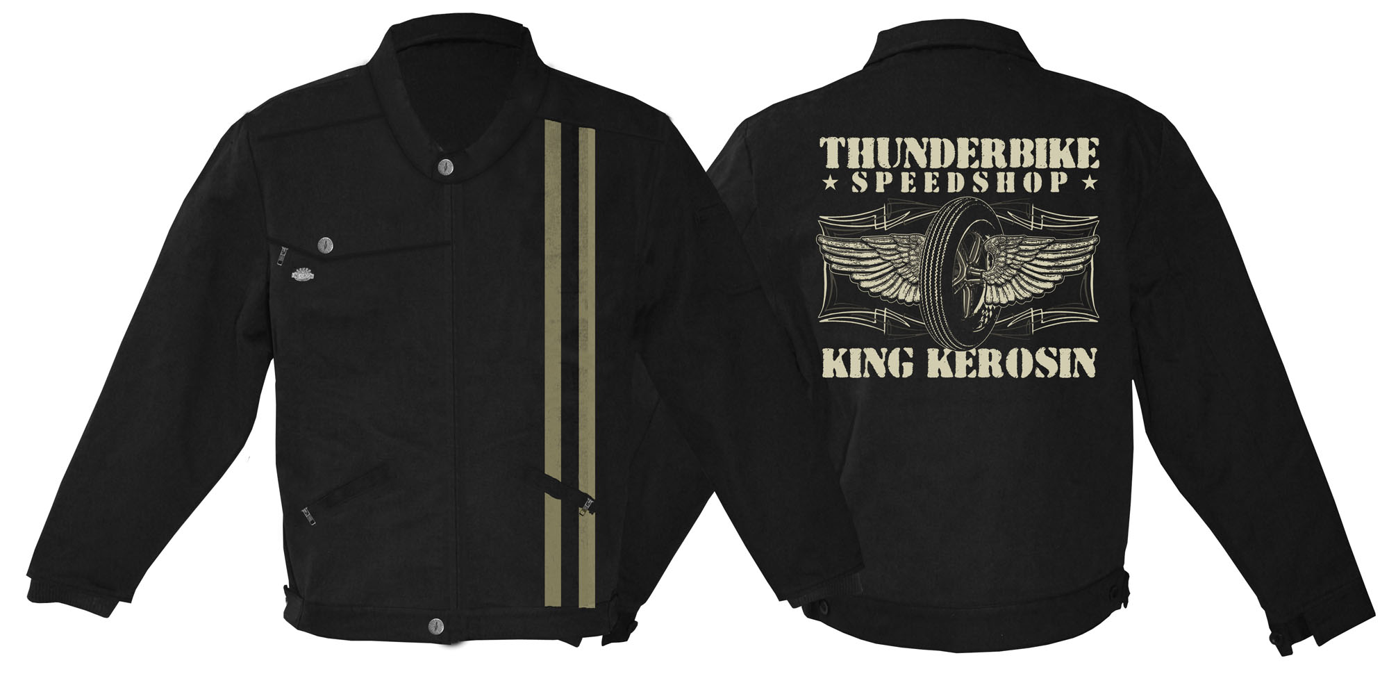 king kerosin racingjacket speedshop at thunderbike shop. Black Bedroom Furniture Sets. Home Design Ideas