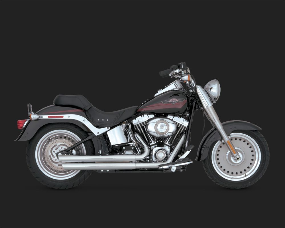 vance hines double barrel staggered chrom f r softail. Black Bedroom Furniture Sets. Home Design Ideas