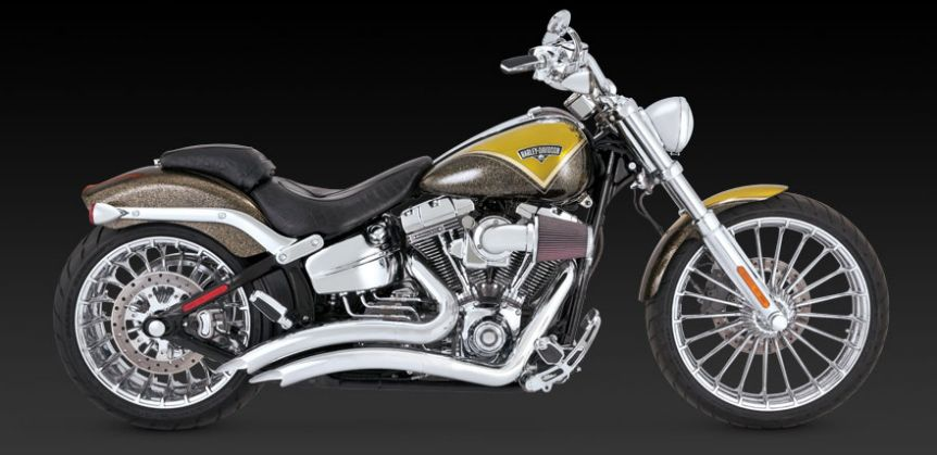 Vance & Hines Big Radius 2in2 chrome for H-D Softail Breakout