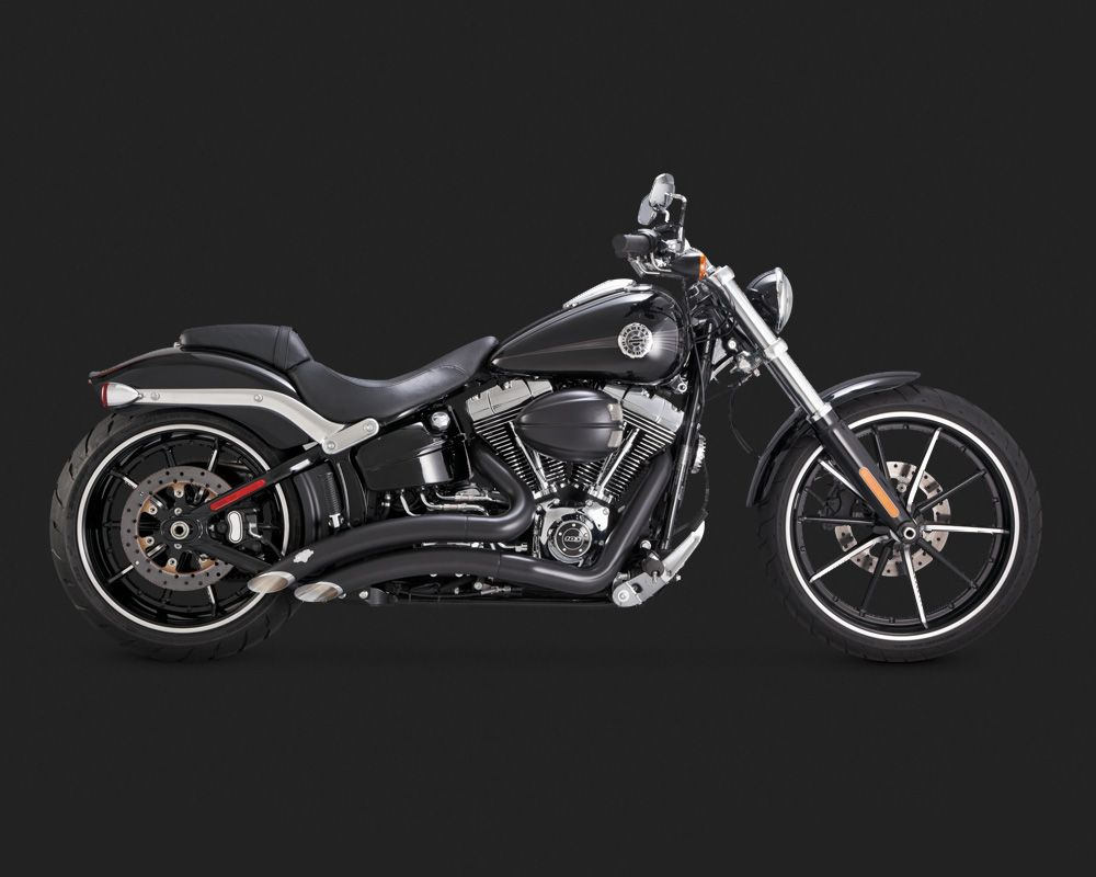 vance hines big radius 2 into 2 schwarz f r h d softail. Black Bedroom Furniture Sets. Home Design Ideas