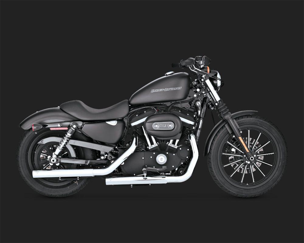 Vance /& Hines Straightshots hs slip-ons per Harley Davidson Sportster 04-13