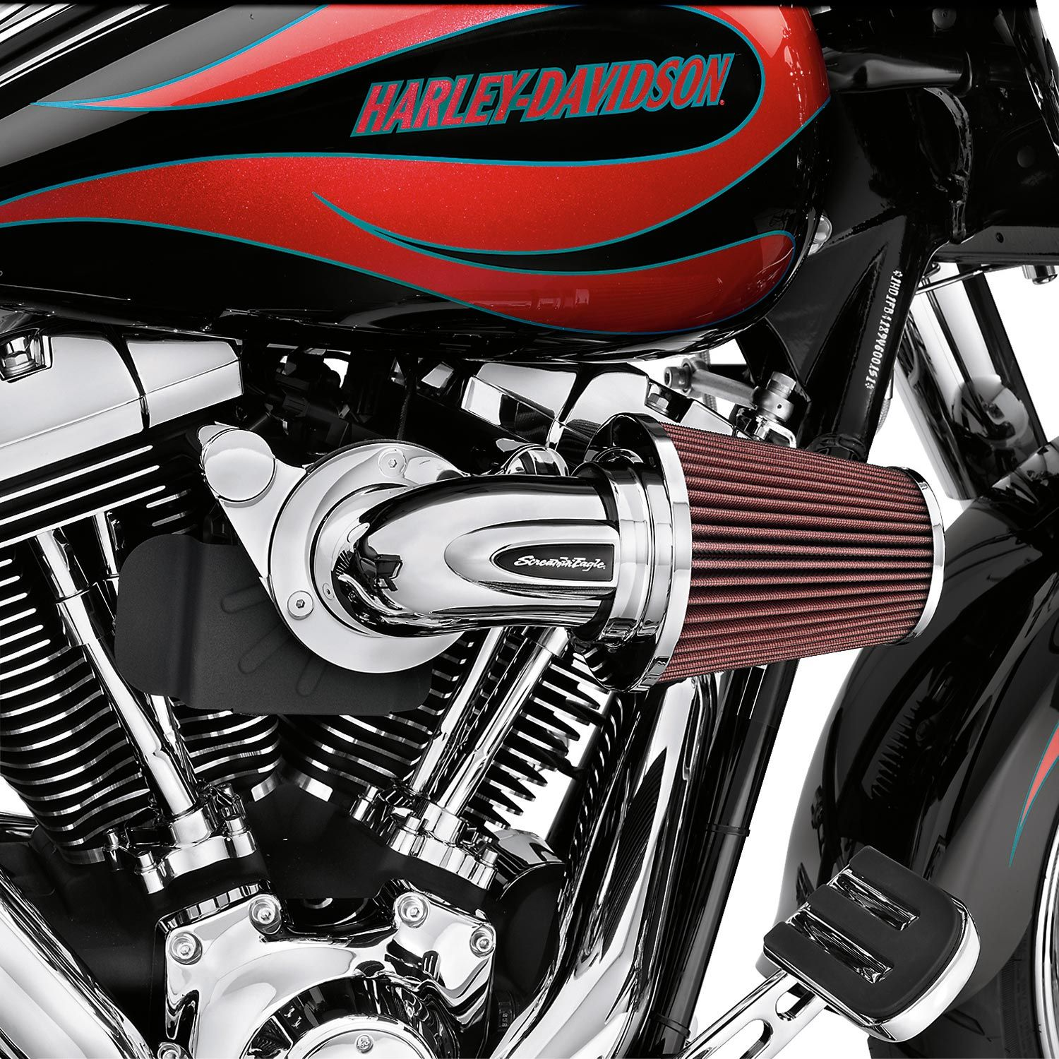 Harley Davidson Performance Air Cleaner : H d screamin eagle heavy breather decorative