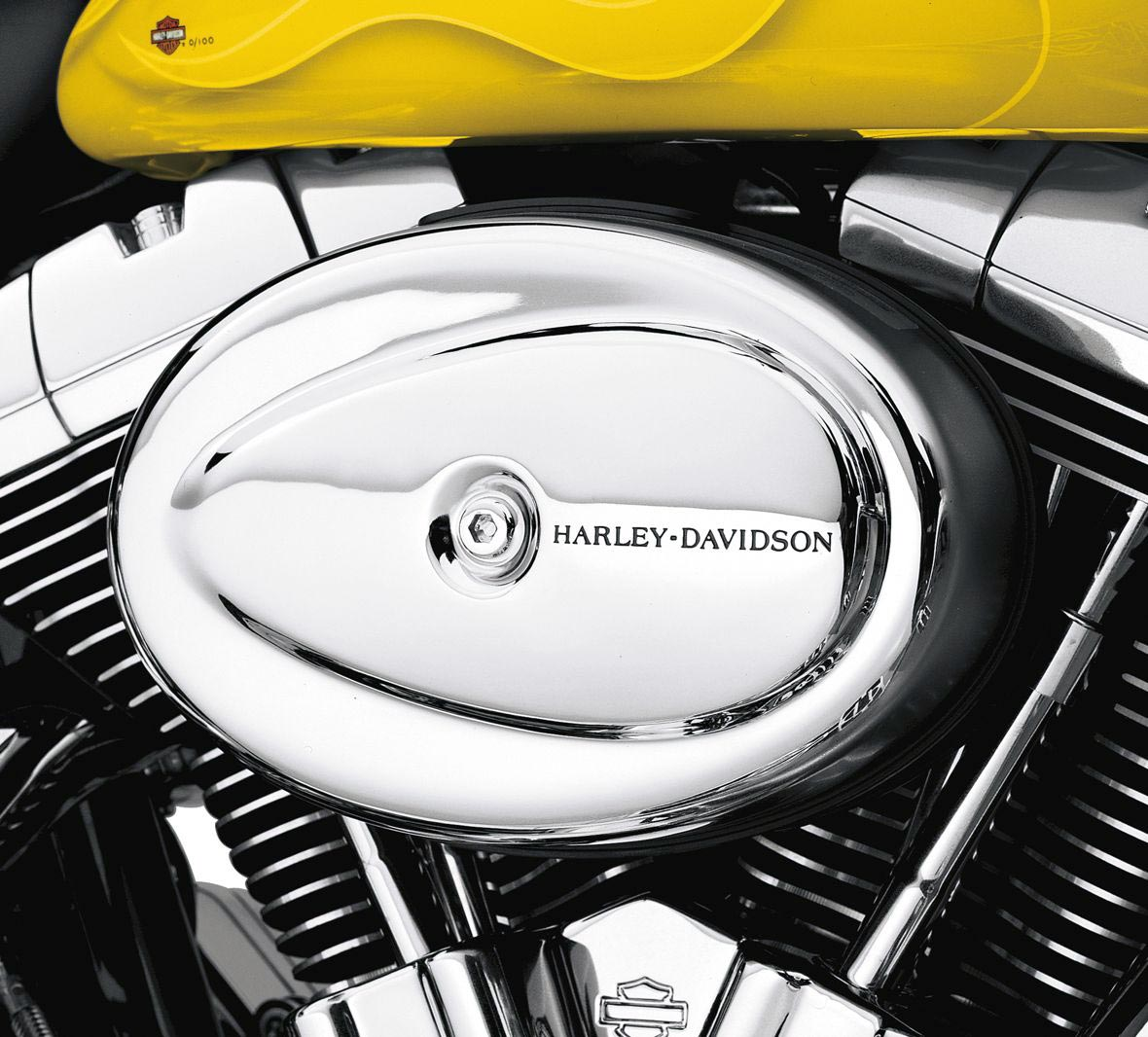 Harley Davidson Performance Air Cleaner : H d air cleaner cover chrome for softail later