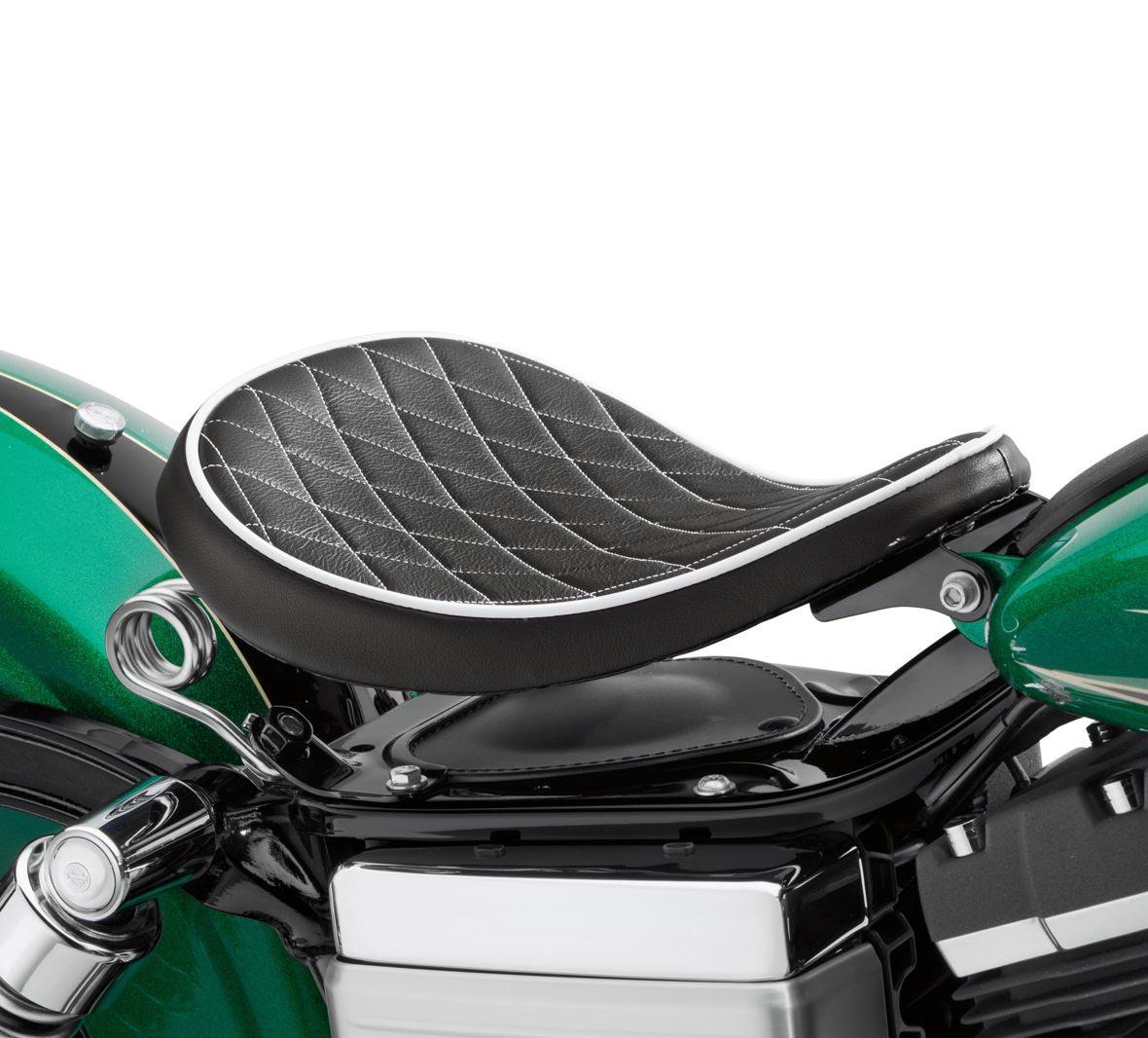52000276 Harley-Davidson Solo Federsattel Black Diamond 10.5\