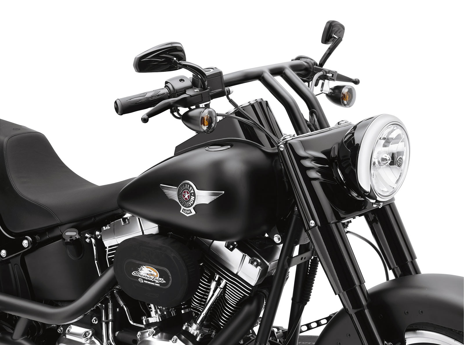 Harley Davidson Drag Bars Black