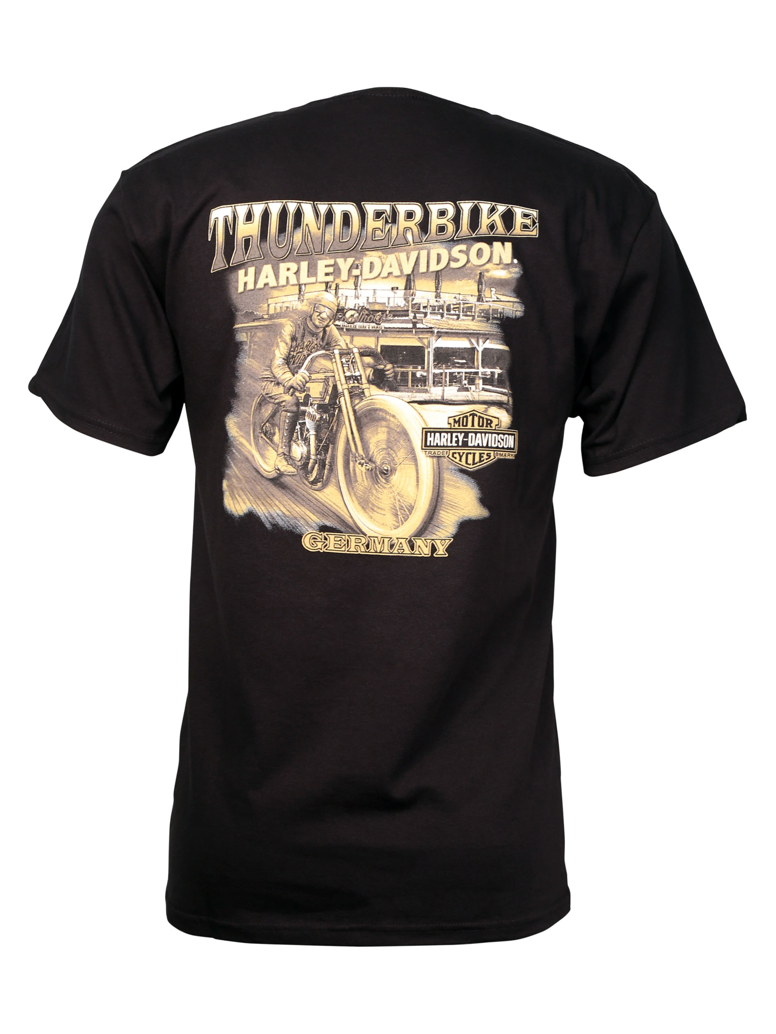 harley davidson t shirt caged power at thunderbike shop. Black Bedroom Furniture Sets. Home Design Ideas