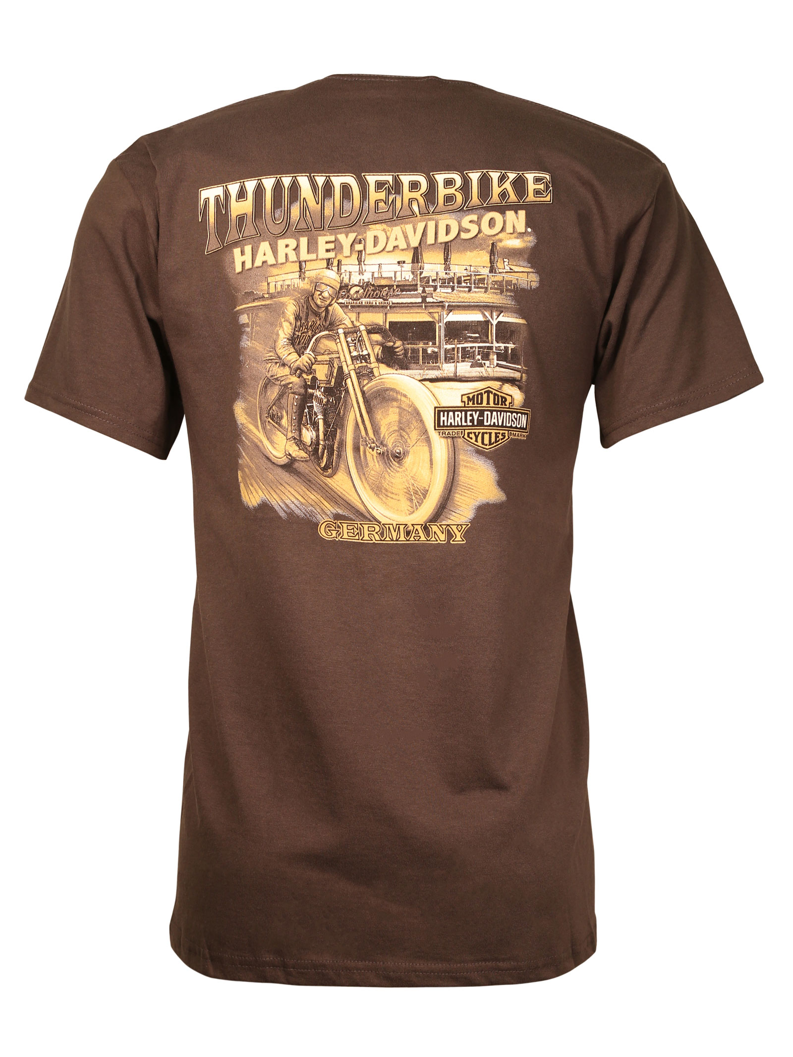 harley davidson t shirt chrome trip at thunderbike shop. Black Bedroom Furniture Sets. Home Design Ideas