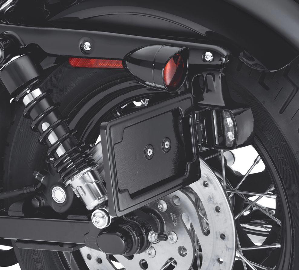 60972-10 seitliches Nummernschild-Kit schwarz Sportster XL ab 04