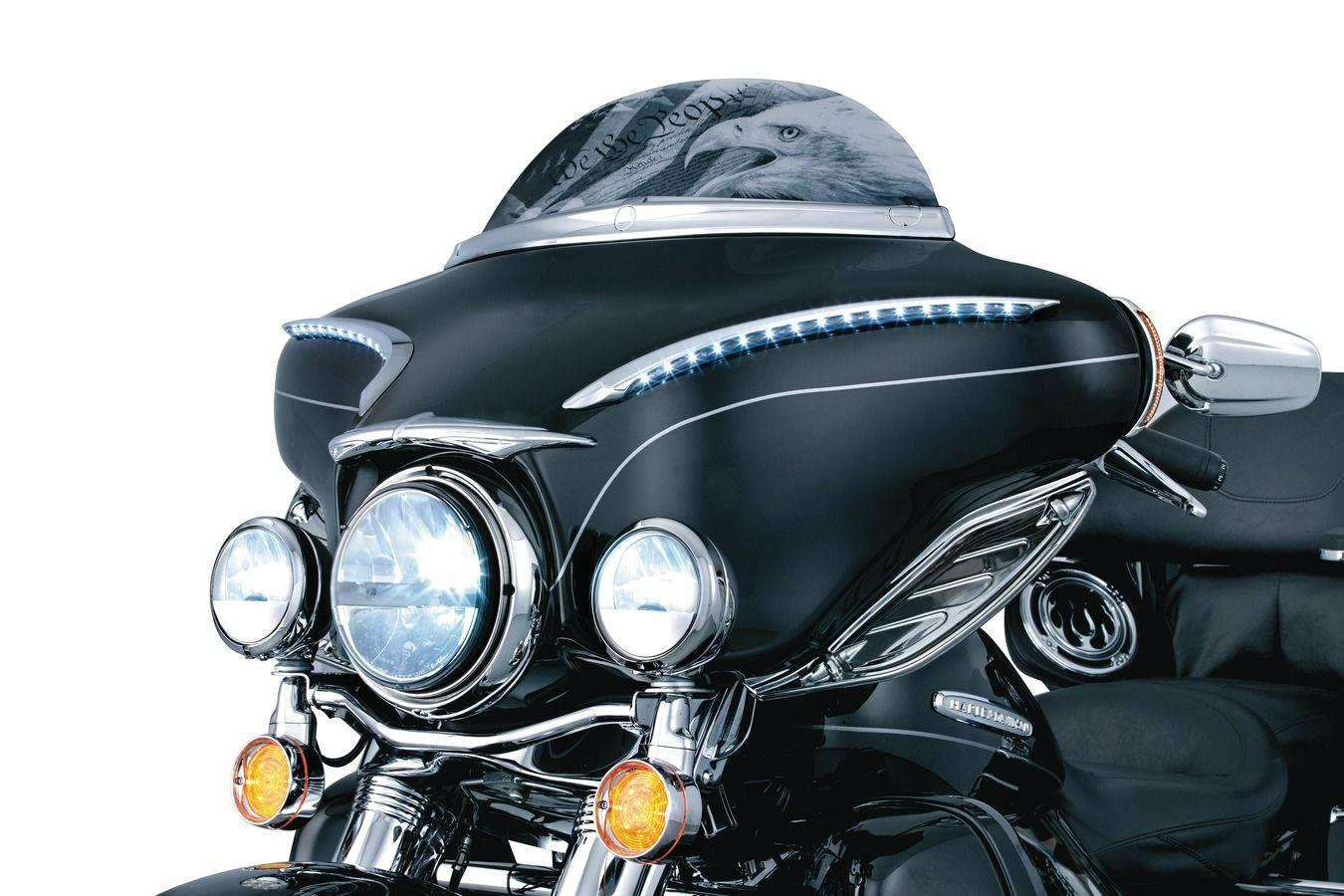 Kuryakyn Top Fender Accents Rear Chrome Harley Davidson Ultra Glide//Street Glide