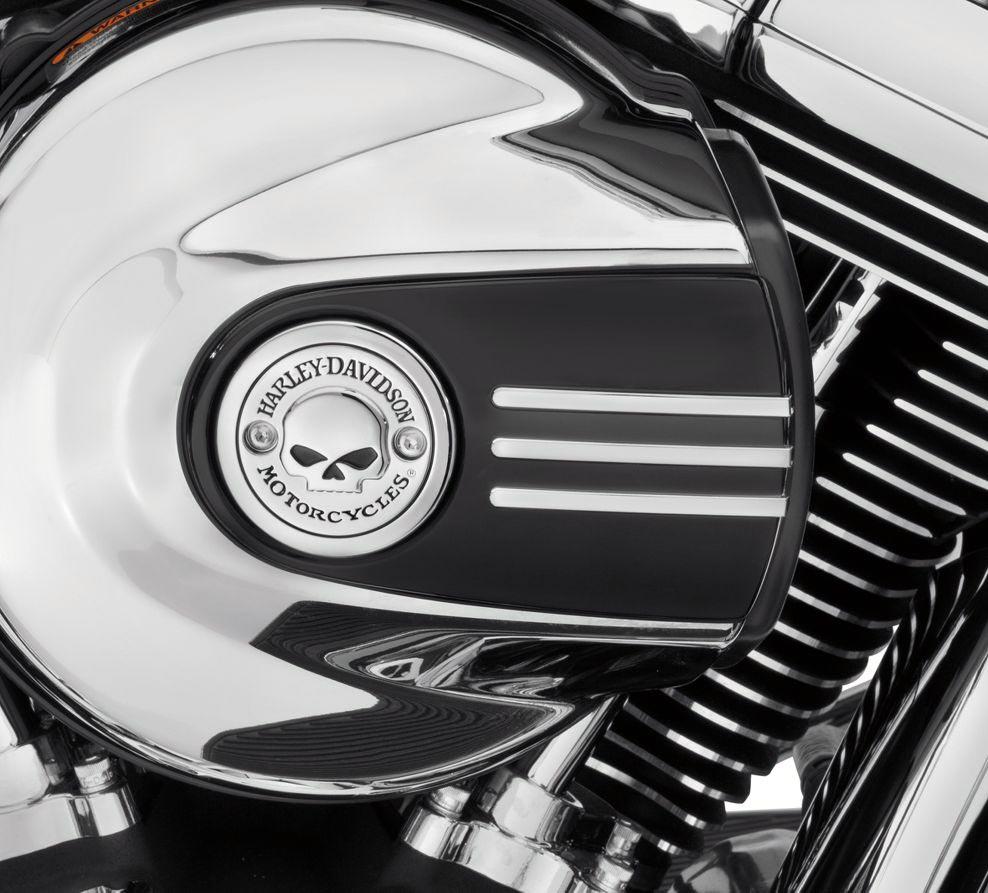 Skull Air Cleaner : Willie g skull air cleaner trim at thunderbike shop