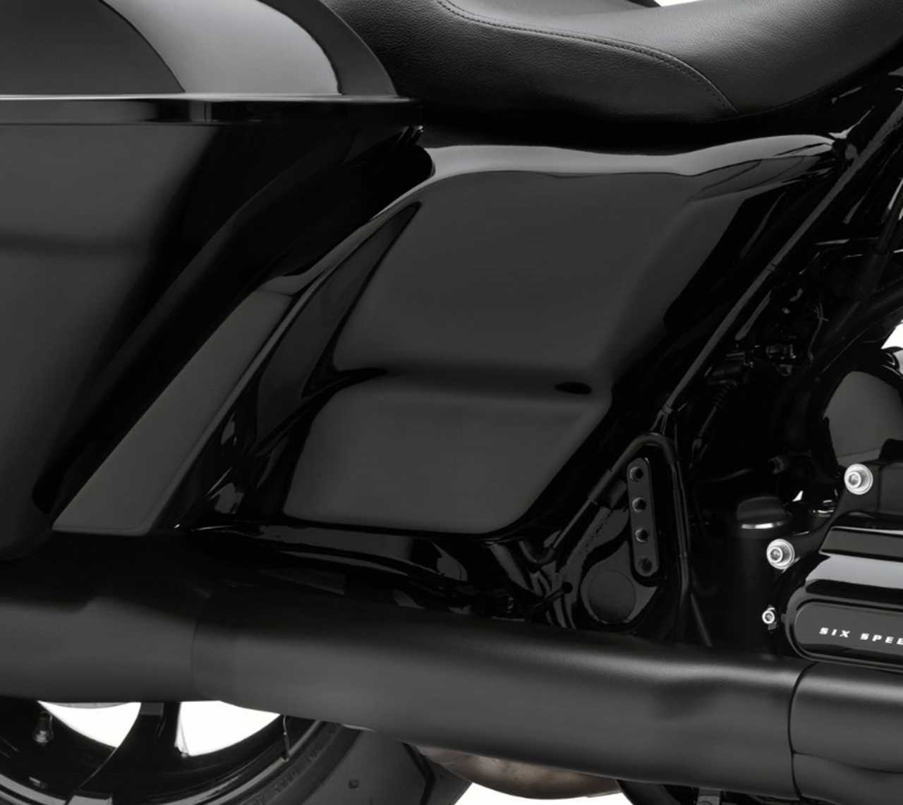 Harley Davidson Bike Covers >> 61300671DH Custom Stretched Side Covers Vivid Black at ...