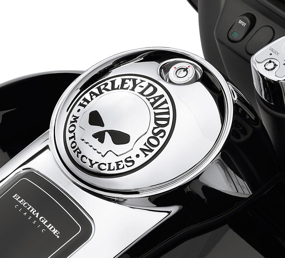 Harley-Davidson Willie G Skull Fuel Tank Console Door - 61374-04