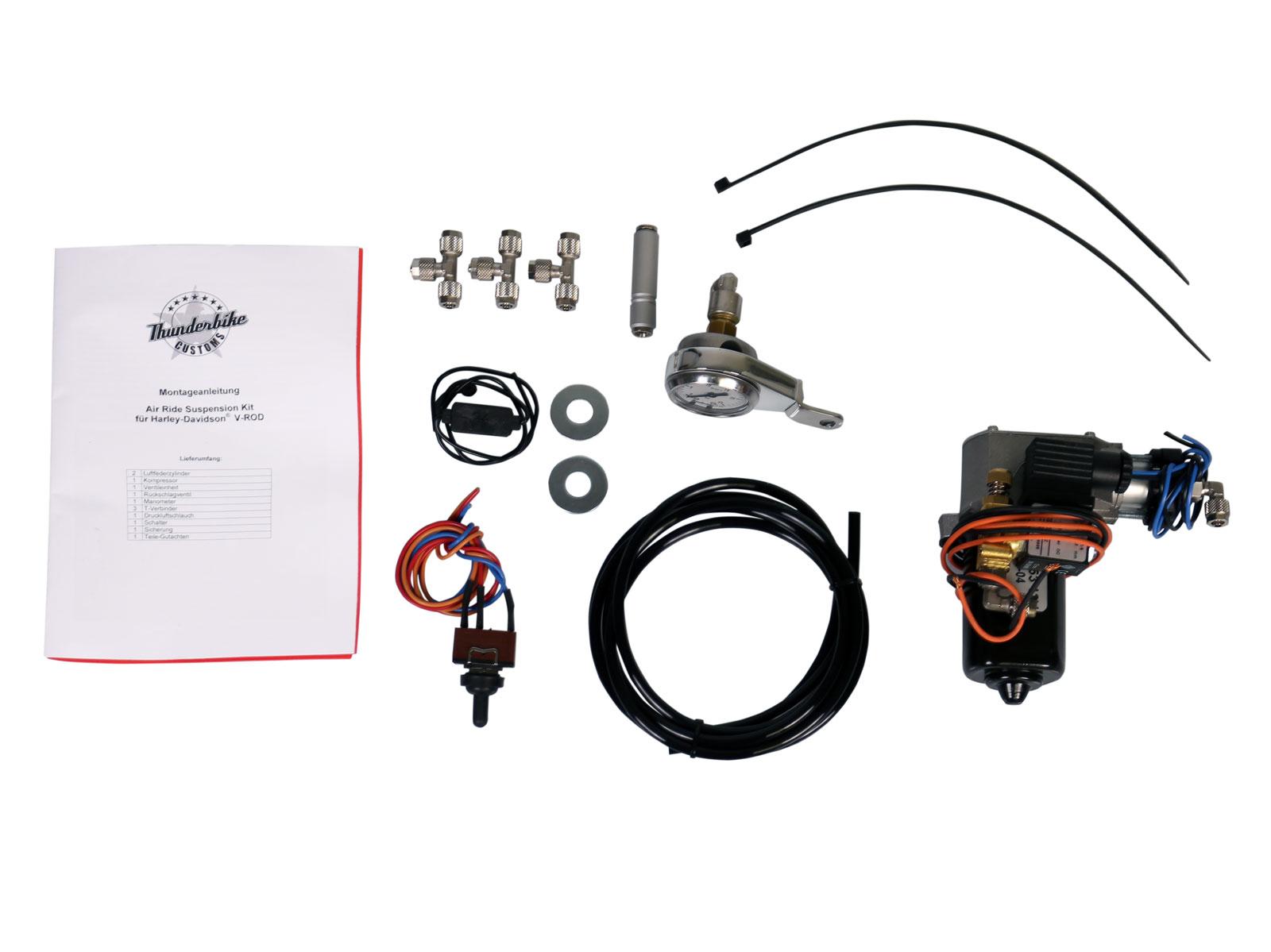 Air-Ride Suspension Kit für V-Rod / VRSC (außer Muscle) im ...