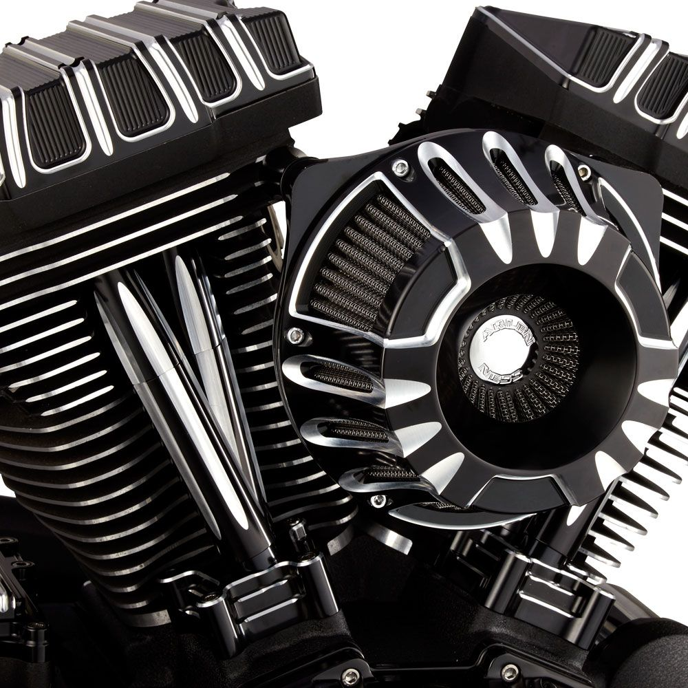 Arlen Ness Deep Cut Inverted Air Cleaner Kit Black For Twin Cam 00 17 Except Throttle By Wire At Thunderbike Shop