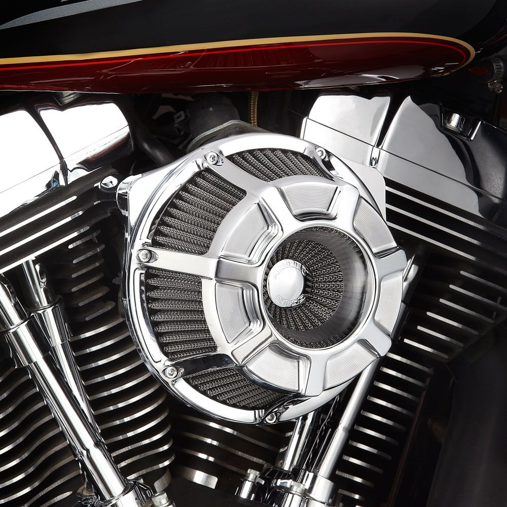 Arlen Ness Beveled Inverted Air Cleaner Kit Chrome For Twin Cam 08 17 With Throttle By Wire Except Touring 17 At Thunderbike Shop
