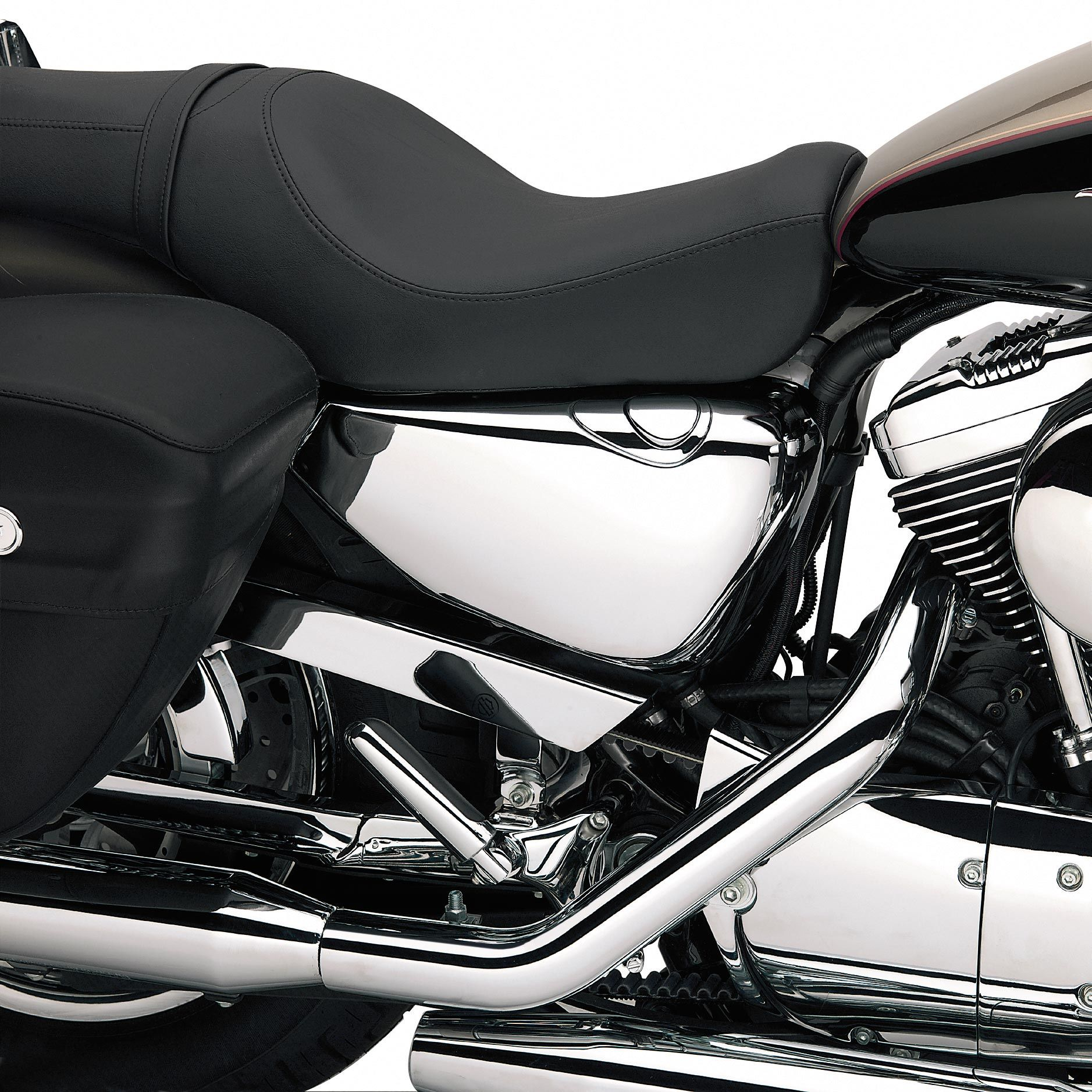 66262 04 Sportster Right Side Oil Tank Cover Chrome At