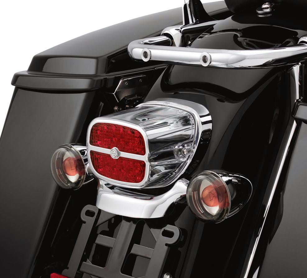 68116 08 Led Tail Lamp Red Lens Chrome Bezel At