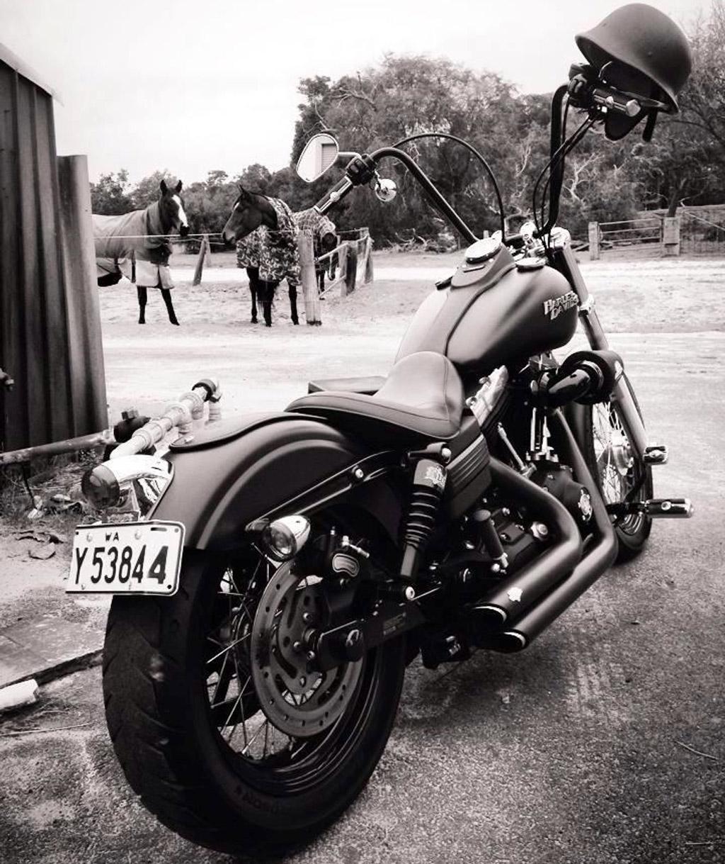 Burly Brand Chrome Rear Slammer Shocks For Harley-Davidson FXD 91-17