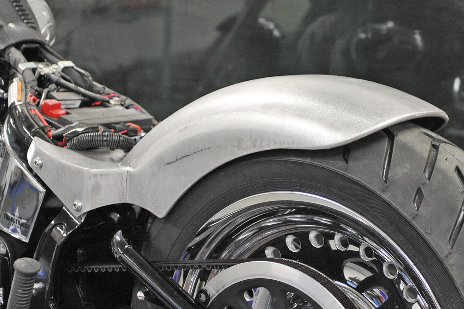 Harley Softail Fenders : Thunderbike rear fender steel for softail later