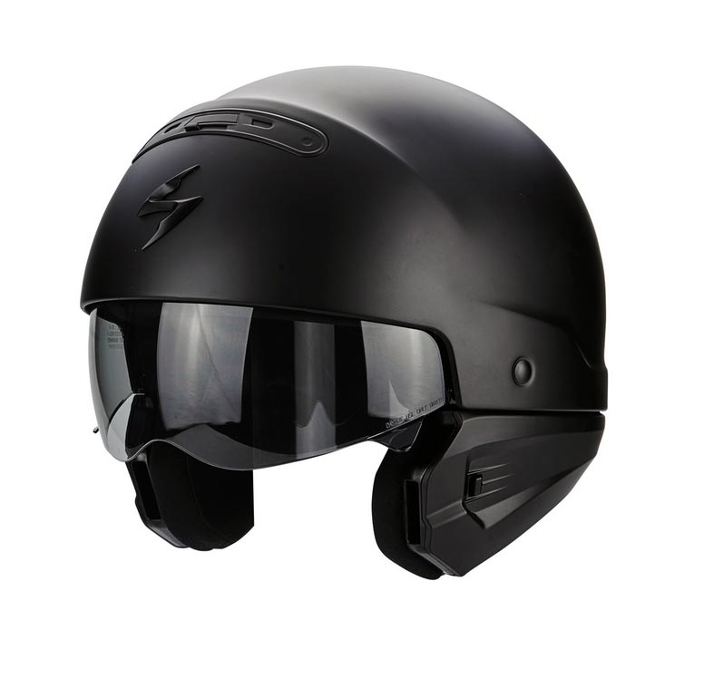 scorpion exo combat helmet black matt at thunderbike shop. Black Bedroom Furniture Sets. Home Design Ideas