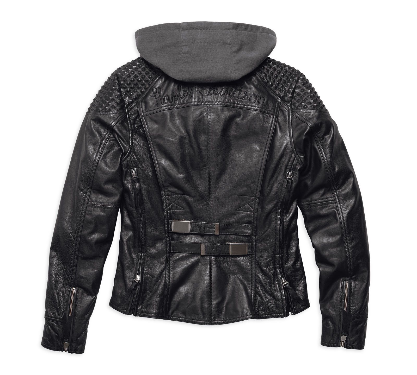 97145 17vw harley davidson women 39 s h d triple vent system mantle leather biker jacket at. Black Bedroom Furniture Sets. Home Design Ideas