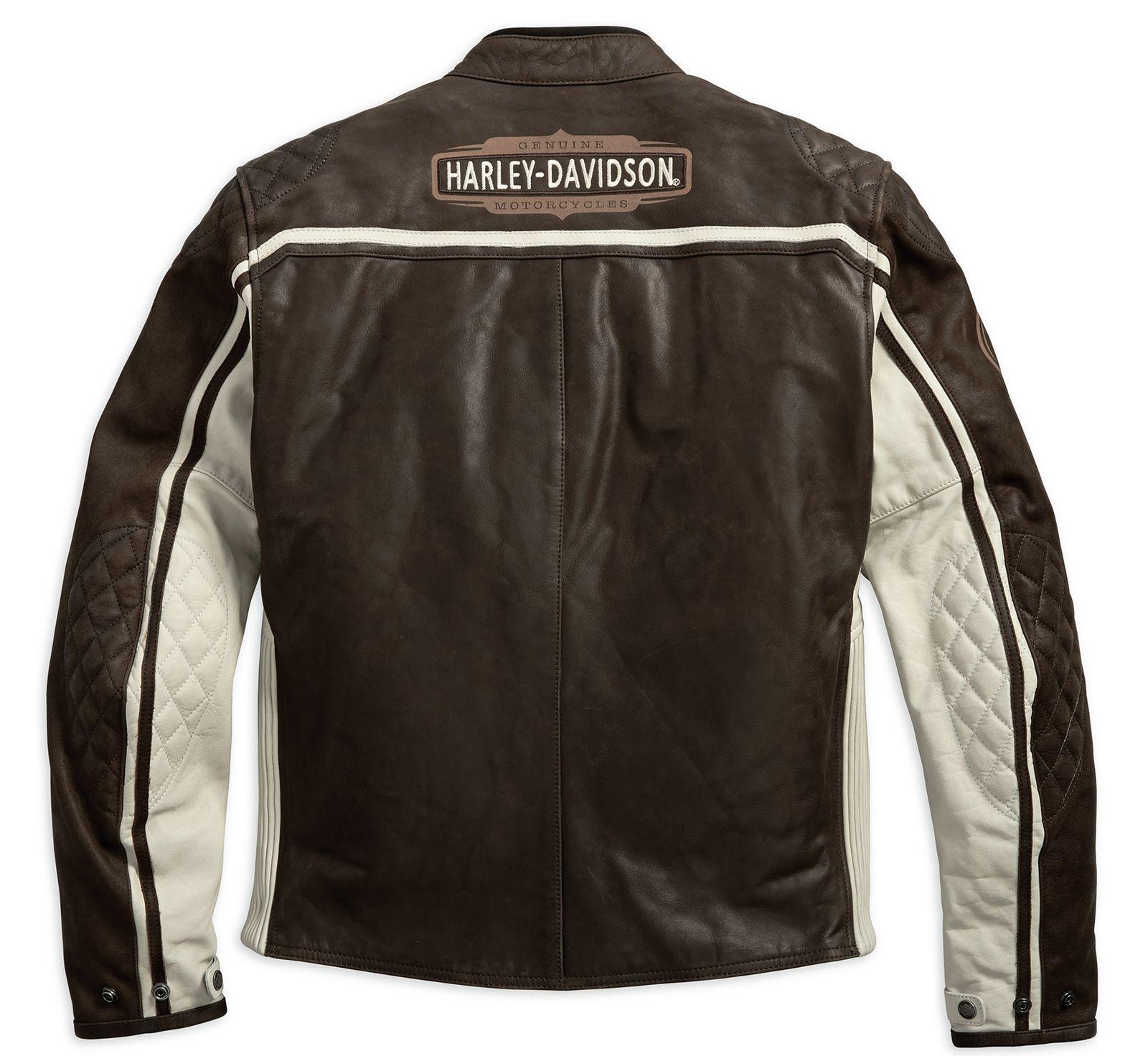 97186 18em harley davidson lederjacke dash braun im thunderbike shop. Black Bedroom Furniture Sets. Home Design Ideas