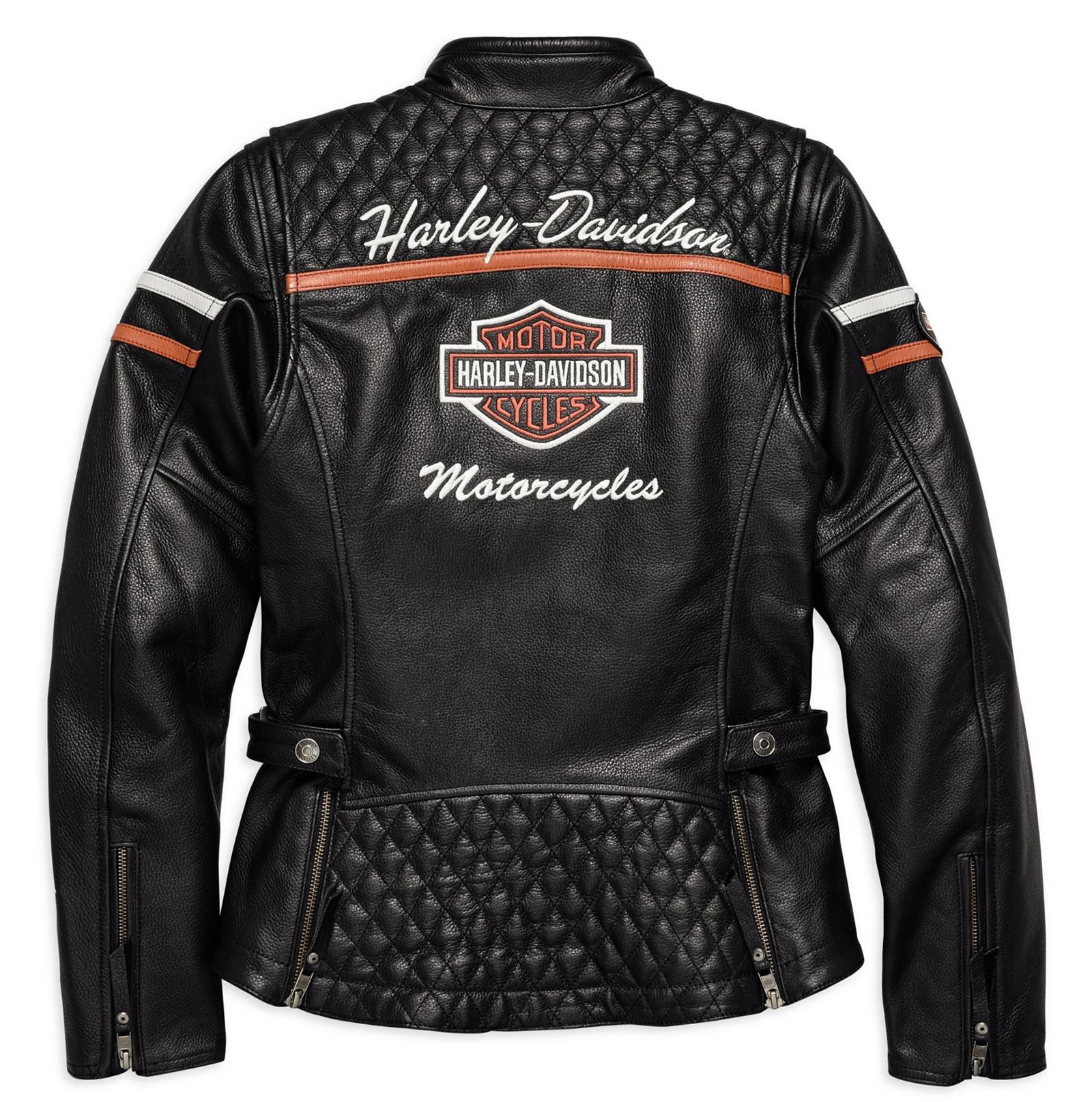98030 18ew harley davidson leather jacket miss enthusiast. Black Bedroom Furniture Sets. Home Design Ideas