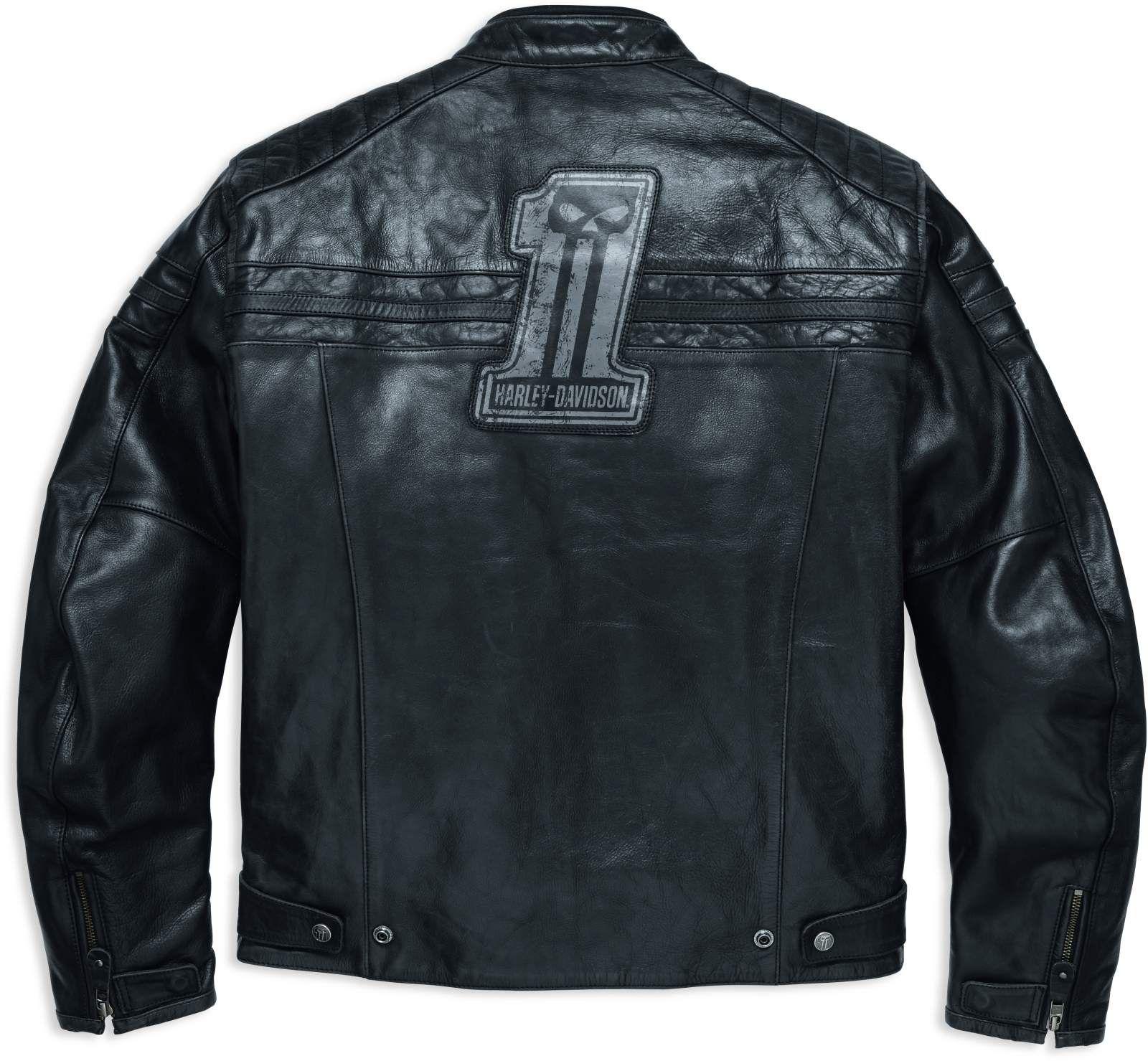 98128 17em harley davidson lederjacke 1 skull im thunderbike shop. Black Bedroom Furniture Sets. Home Design Ideas