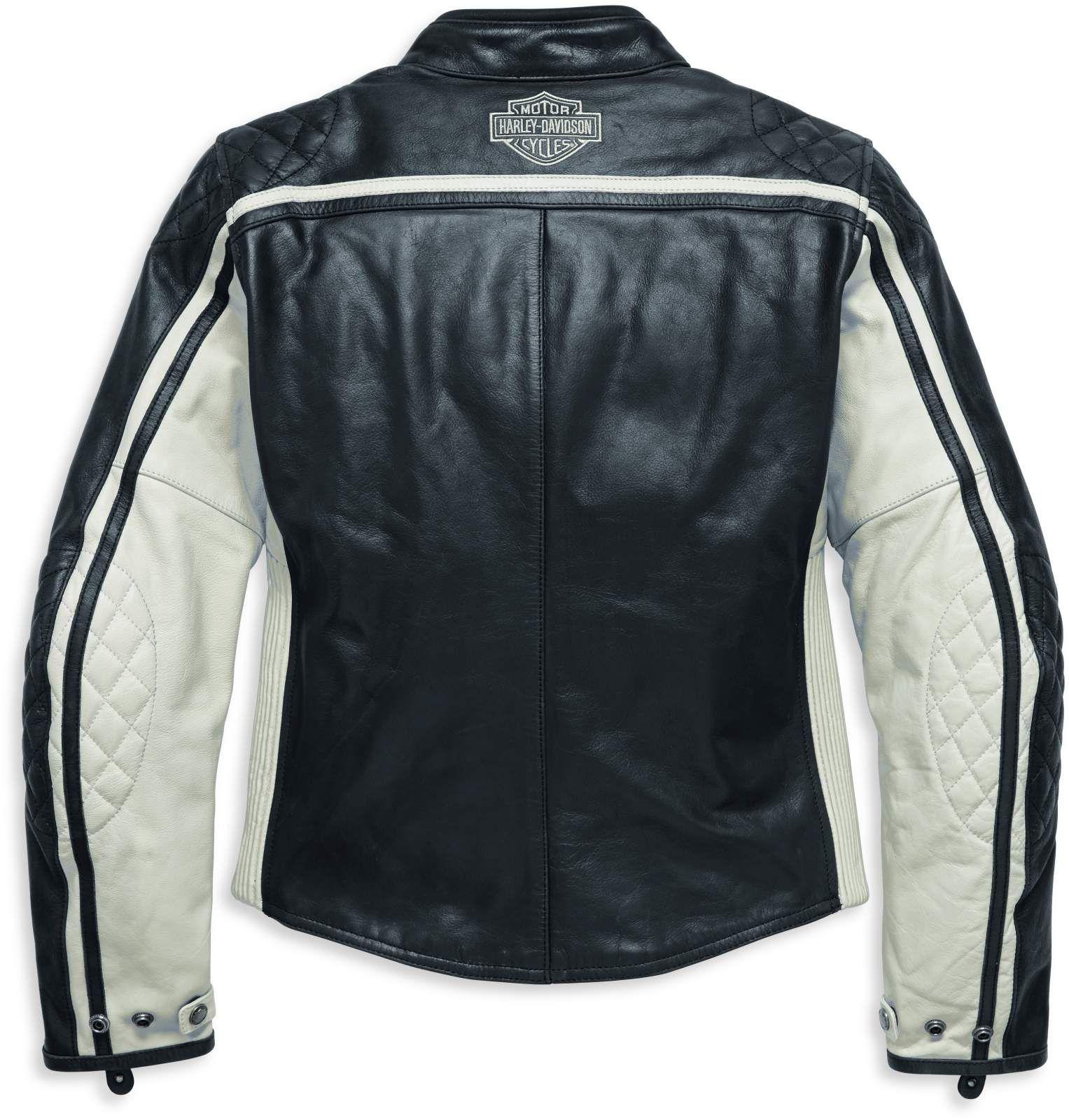98130 17EW Harley Davidson Damen Lederjacke Relay EC im